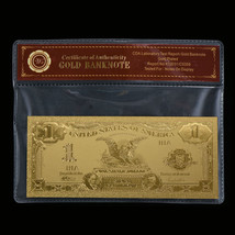 WR Gold US Banknote 1899 $1 Silver Certificate Golden Collecting Gift In... - $4.56