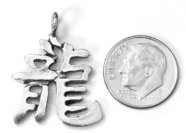 CHINESE ZODIAC DRAGON Fine Pewter Cast Pendant image 2