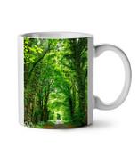 Green Forest Road NEW White Tea Coffee Mug 11 oz | Wellcoda - $15.99