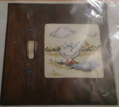 Spring Shower Duck 800 Stitchplate Cover Needles Hoops Counted Cross Sti... - $17.39