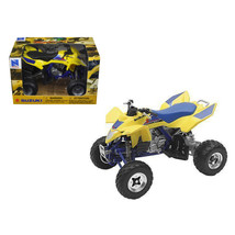Suzuki Quad Racer R450 Yellow/Blue ATV Motorcycle 1/12 Diecast Model by ... - $32.41