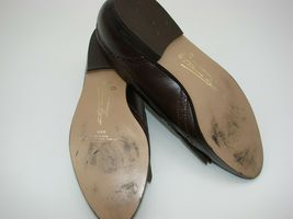 EUC Etienne Aigner Women's Tassel Slip On Pinch Loafers Dress 8 1/2M Brown image 3