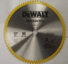 "DEWALT DW3232PT Precision Trim 12"" x 80 Tooth ATB Crosscutting Saw Blade... - $47.52"