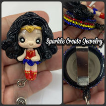 Wonder Woman Clay Retractable Badge Reel image 7