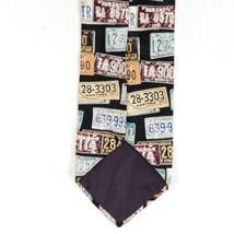 Structure License Plates Silk Necktie Tie image 4