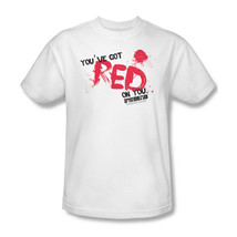Shaun of Dead  T-shirt You've Got Red on You zombie 100% cotton tee UNI386 image 2