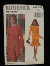 1992 Butterick Fast & Easy 6466 PATTERN Top Skirt Size 12 14 16 - $7.69