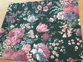 "Croscill Granada Green Pink Blue Floral Tailored / Blouson Valance 88"" U... - $20.78"
