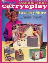 Grocery Store Carry & Play for Barbie Doll Plastic Canvas PATTERN/Instru... - $11.67