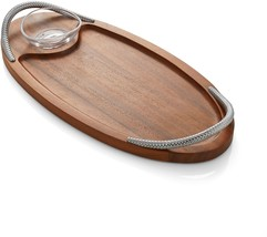Nambe Braid Bread Board with Dipping Bowl - $180.13