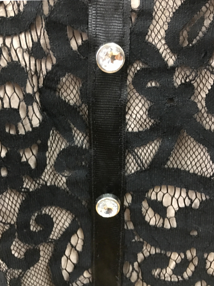 Lace Skirt with Dazzling Rhinestones - Medium (8)