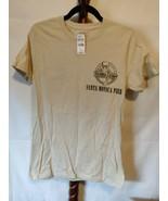 Bubba Gump Shrimp Co. men's tee shirt size S brown SS logo on front & ba... - $12.16