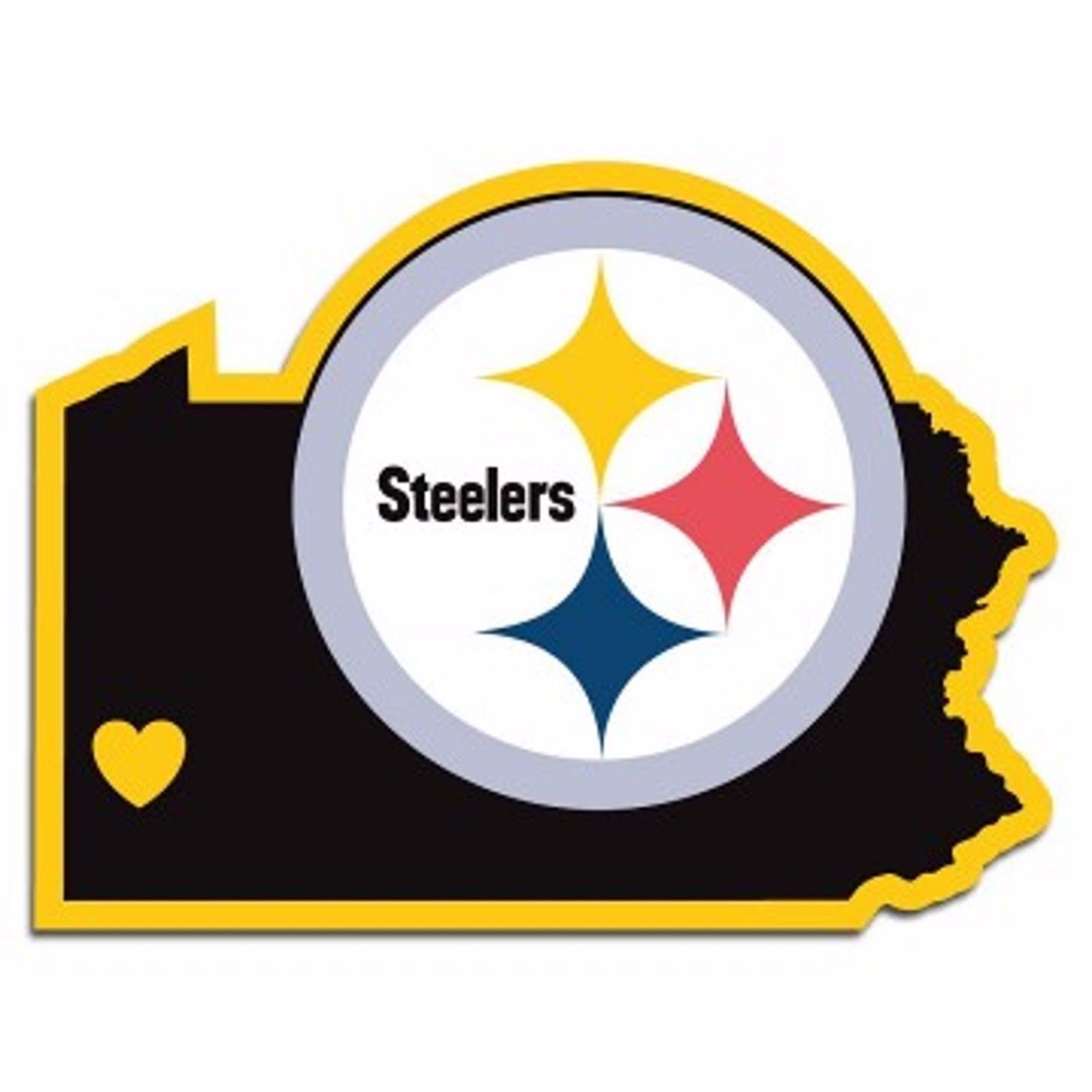 NFL Pittsburgh Steelers Home State Auto Car Window Vinyl Decal Sticker - $4.95