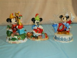 Set of 3 Disney Parks Mickey Figurines 2001, 2002, 2004 Apprentice - $99.99