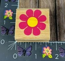StampCraft Single Flower Rubber Stamp Sun Petals 2005 Wood #H149 - $7.42