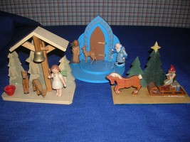Collection of Hand Carved Wooden Scenes - $19.95