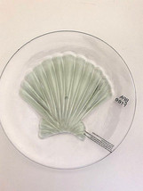 "Shell Clear Melamine Plates 8"" Appetizer Dessert Salad Lunch set of 4 NEW - $29.58"