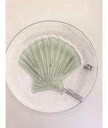 "Shell Clear Melamine Plates 8"" Appetizer Dessert Salad Lunch set of 4 NEW - $29.58"