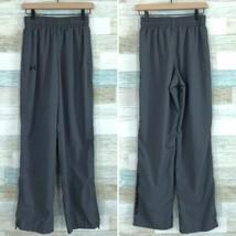 Under Armour Loose Windbreaker Pants Zip Ankles Gray Drawstring Men Size... - $23.75