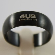 BURNISHED STEEL SATIN WITH BLACK ZIRCONIA CROSS RING 8 MM 4US BY CESARE PACIOTTI image 2