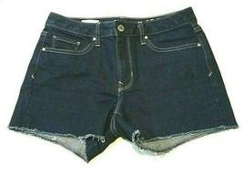 Gap 1969 Shorts Women's Size 25 Regular Slim Cut Off Frayed Hems Dark Wash  - $14.07