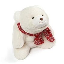 GUND Snuffles with Knit Scarf Christmas Stuffed Plush Teddy Bear, White,... - $23.56