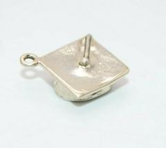Sterling Silver .925 Graduation Cap Vintage Necklace Pendant Bracelet Charm - $19.79