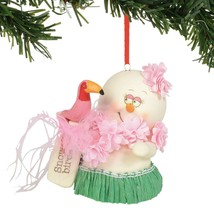 Snow Birds Flamingo Holiday Ornament Snowpinions Beached Collection - $43.76