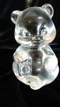 Fenton Art Glass Crystal Clear Bear Figurine Made in USA - $25.00