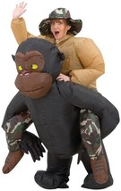 Adult Riding Gorilla Costume Inflatable Monkey Ape Halloween Funny SS29059G - $57.99