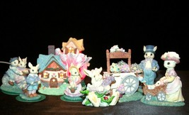 ArmChair Shopper with Bunnies Decor Handcrafted Village AA-191795 Collectible image 1