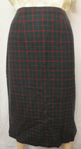 Vtg 50's Scottish Plaid Wool Custom made Pencil Skirt Size S - $25.00
