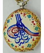 One of a kind fancy SILVER&ENAMEL TUGHRA watch made for Ottoman Sultan's... - $9,900.00