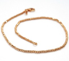 18K ROSE GOLD BRACELET WITH FINELY WORKED SPHERES, 1.5 MM DIAMOND CUT BALLS - $189.00