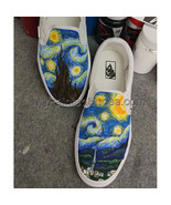 f5a46d4d5f64 Custom Vans Hand Painted Shoes Men Women  39 s Sneakers Starry Night VANS  Shoes