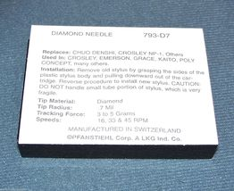 793-D7 RECORD PLAYER NEEDLE STYLUS for NP-1 Fisher ST-05, 707J image 3