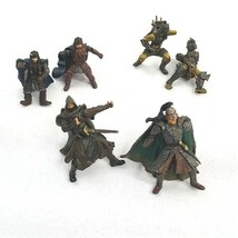 Lord of the Rings Play Along Battle Wounded Mini Figures Lot of 6 w/ Los... - $16.66