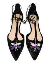 New NINE WEST 'Amethyst' Jeweled Dragonfly Velvet Flats, 9 M - $48.19
