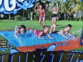 NEW 15' Slip Slide Blobzter Water Filled Built In Sprinklers & Splash Ma... - $40.00