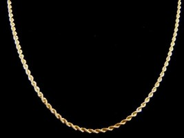 Lovely Vintage Estate 14K Yellow Gold Rope Chain Necklace 12.7g E1742 - $950.00