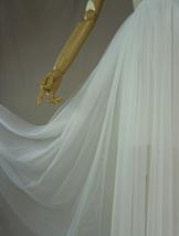 WHITE Tulle Midi Skirt A Line High Waisted Tulle Skirt Wedding Skirt image 9