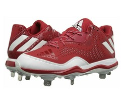 Adidas Poweralley 4 Baseball Cleats Power Red/White/Silver Q16486 Mens 10 - $39.95