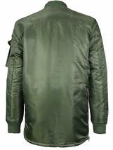 MJC USA Men's Long Oversized Curved Hem Parka Streetwear Bomber Jacket - XL image 3