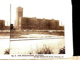 Vintage Stereoscope Card Sears & Roebuck #4 The Merchandise Building - $4.89