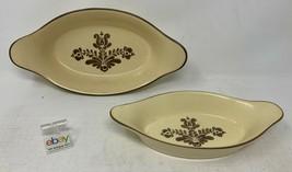 "Set of 2 Pfaltzgraff ""Village"" USA Au Gratin Baking Dishes - Medium and Small ! - $18.99"