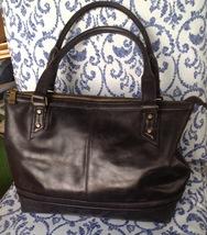 Born black tooled leather tote handbag laptop bag - $50.00