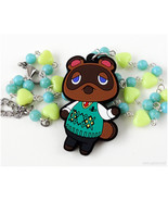 Animal Crossing New Leaf Character Necklace, Tanukichi Charm, Raccon Nec... - $23.00