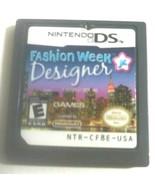 Fashion Week Junior Designer  Nintendo DS, 2009 Game Only No Case - $6.90