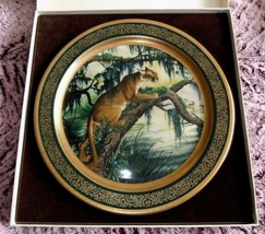 1978 LARGE 13 INCH PANTHER JAMES LOCKHART COLLECTOR PLATE PICKARD CHINA - $85.45