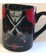 Mug Theater V for Vendetta Freedom Forever Black Coffee - $12.82
